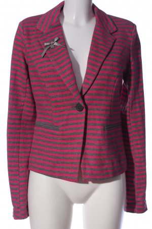 Only Gebreide blazer lichtgrijs-roze gestippeld zakelijke stijl