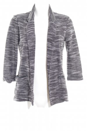 Only Knitted Blazer black-white flecked casual look