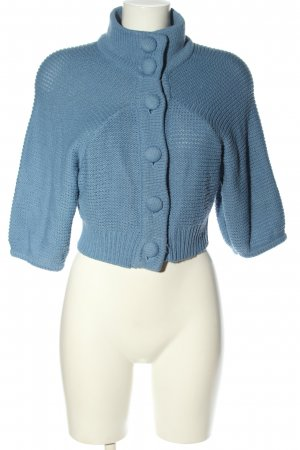 Only Knitted Bolero blue casual look