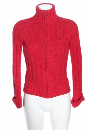 Only Strickjacke rot Zopfmuster Casual-Look