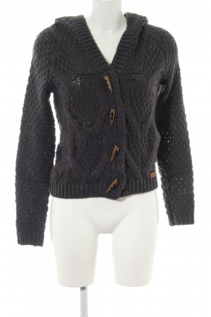 Only Strickjacke schwarz Zopfmuster Casual-Look
