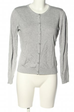 Only Strickjacke hellgrau Streifenmuster Casual-Look