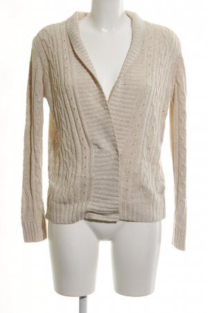 Only Strickjacke creme Zopfmuster Casual-Look