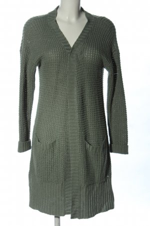 Only Strickjacke hellgrau Casual-Look