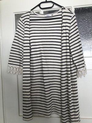 Only Manteau en tricot blanc-noir