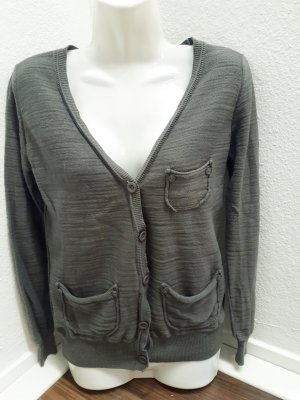ONLY strickjacke Khaki/Grau  gr.M