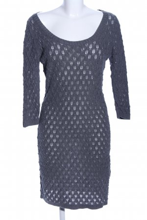 Only Strickkleid blau grafisches Muster Casual-Look