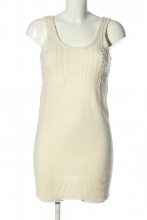 Only Strickkleid creme Zopfmuster Casual-Look