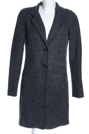 Only Manteau en tricot gris clair moucheté style décontracté