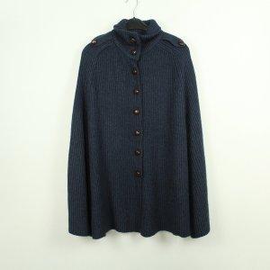 Only Poncho en tricot bleu foncé acrylique