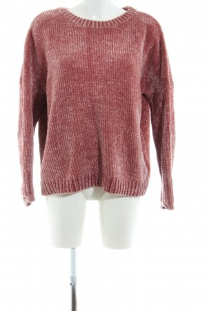 Only Strickpullover rot meliert Casual-Look