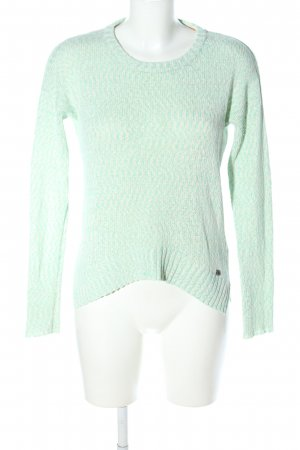 Only Strickpullover türkis meliert Business-Look