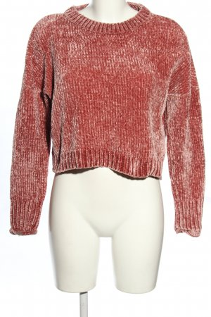 Only Strickpullover rot-wollweiß meliert Casual-Look