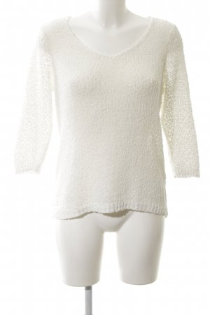 Only Strickpullover weiß Zopfmuster Casual-Look