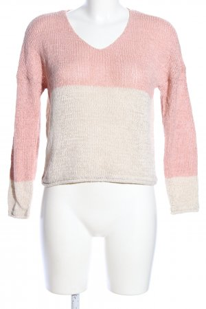 Only Strickpullover pink-wollweiß Casual-Look