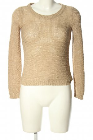 Only Strickpullover wollweiß Zopfmuster Casual-Look