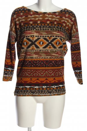 Only Strickpullover Allover-Druck Casual-Look