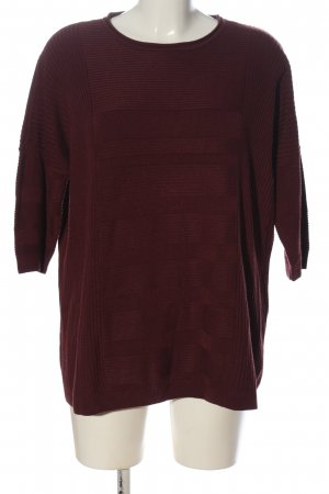 Only Strickpullover rot Streifenmuster Casual-Look