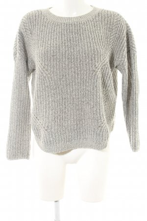 Only Strickpullover hellgrau Zopfmuster Casual-Look