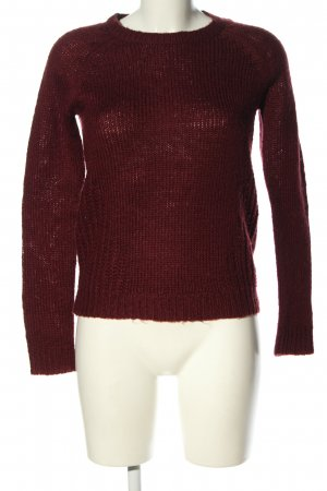 Only Strickpullover rot Zopfmuster Casual-Look