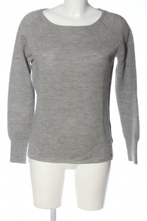 Only Strickpullover hellgrau meliert Casual-Look