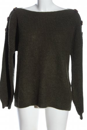 Only Strickpullover braun Zopfmuster Casual-Look