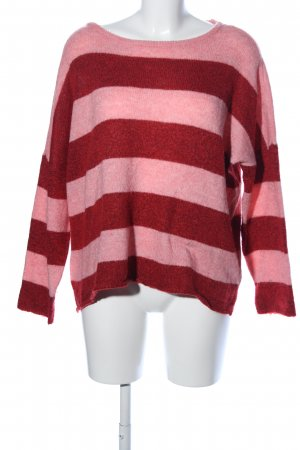 Only Strickpullover pink-rot Streifenmuster Casual-Look