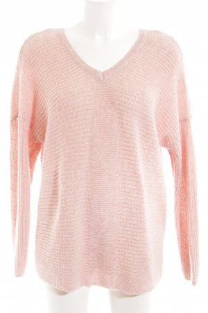 Only Strickpullover pink Zopfmuster Casual-Look