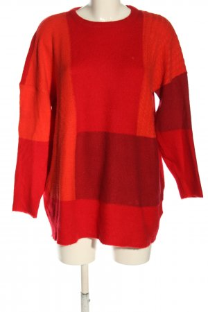 Only Strickpullover rot-hellorange Casual-Look