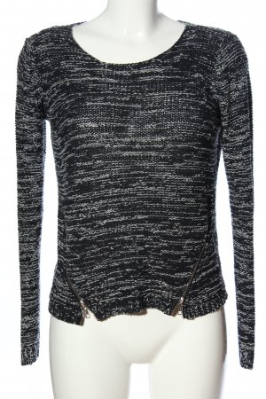 Only Strickpullover schwarz-hellgrau Casual-Look