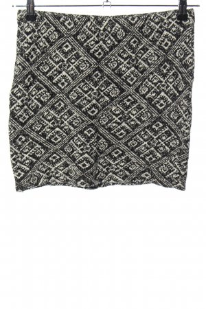 Only Knitted Skirt black-natural white abstract pattern casual look