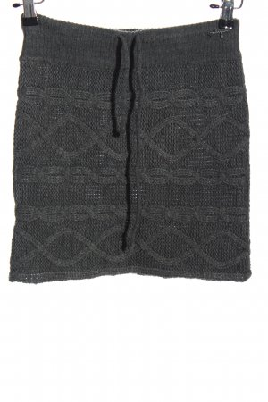Only Strickrock hellgrau Zopfmuster Casual-Look