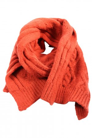 Only Knitted Scarf light orange cable stitch casual look
