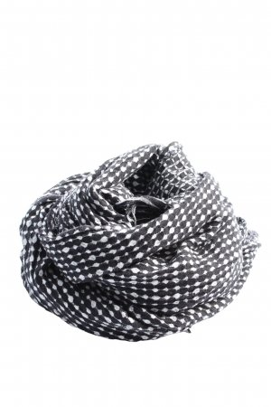 Only Knitted Scarf black-white allover print casual look