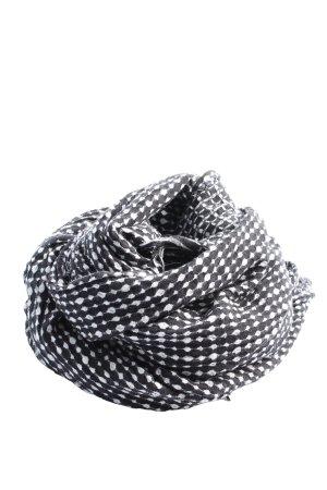 Only Écharpe en tricot noir-blanc imprimé allover style décontracté