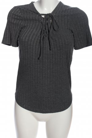 Only Strickshirt schwarz Streifenmuster Casual-Look