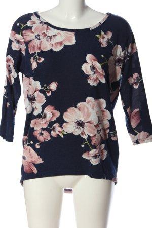 Only Gebreid shirt bloemenprint casual uitstraling