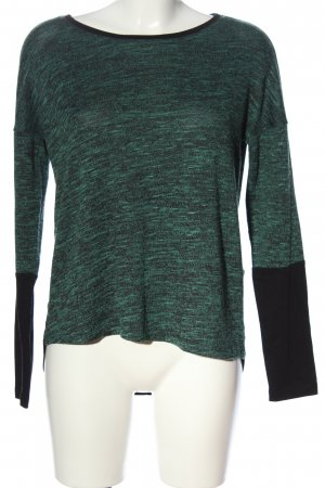 Only Strickshirt schwarz-grün meliert Casual-Look