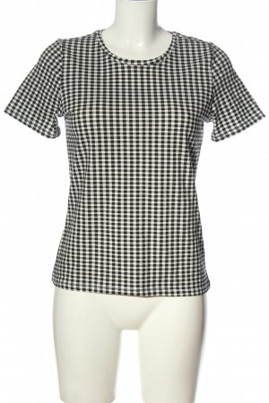 Only Strickshirt schwarz-weiß Karomuster Casual-Look