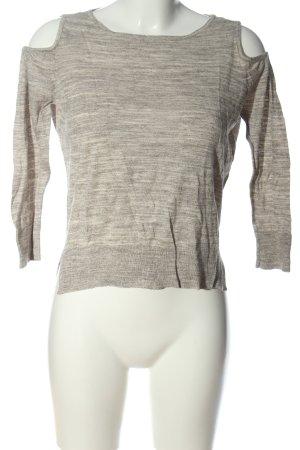 Only T-shirts en mailles tricotées gris clair moucheté style décontracté