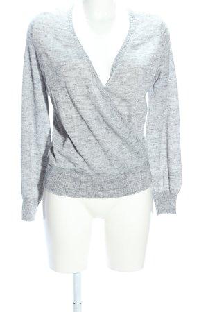 Only Camicia maglia grigio chiaro puntinato stile casual