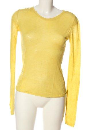 Only Strickshirt blassgelb Casual-Look