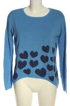 Only Koszulka z dzianiny niebieski Nadruk z motywem W stylu casual
