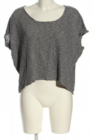 Only Knitted Jumper light grey-natural white striped pattern casual look