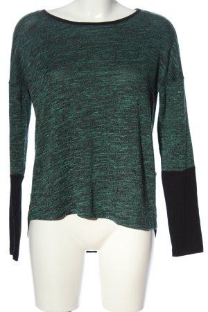 Only Strickshirt schwarz-grün meliert Casual-Look