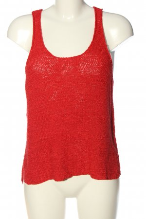 Only Stricktop rot Casual-Look