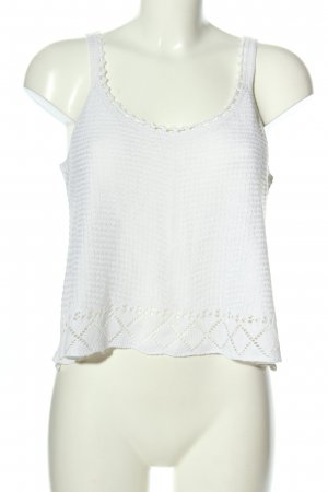 Only Stricktop weiß Casual-Look