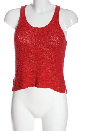 Only Gebreide top rood casual uitstraling