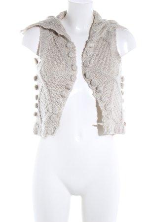 Only Gilet tricoté blanc cassé torsades style décontracté