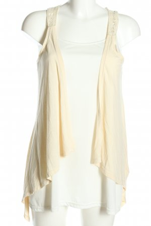 Only Strickweste creme Casual-Look